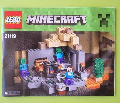 Lego Instruction Manual Book Only - 21119 Minecraft