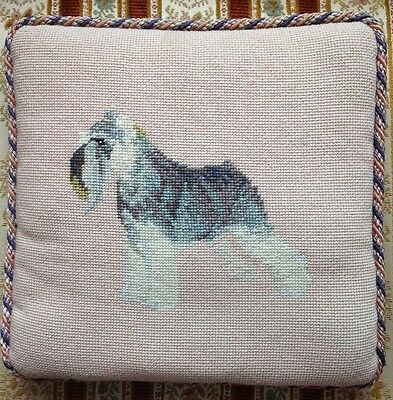 Vintage Classic Schnauzer Dog - Beautifully Bearded Bed Buddy Pillow!