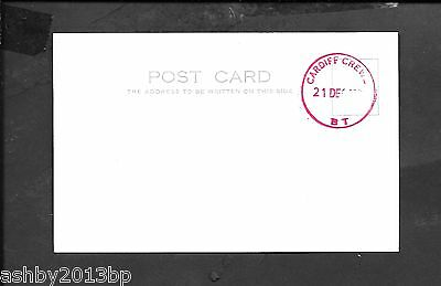 RAILWAY c1980s POSTCAR S.T.O.CARDIFF CREW/B.T CDS IN RED. REVERSE SIDE BLANK