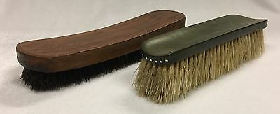 Vintage Clothes Brushes Wooden Brush and a Solid plastic Brush
