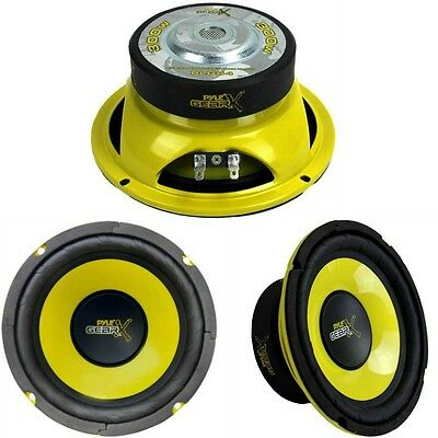 "Coppia Midwoofer  16,5 Cm 16 6,5"" Pyle Gear Plg64 300 Watt Rms Occasione Woofer"