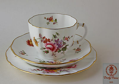 Royal Crown Derby, Derby Posies - Tea Trio - Tea Cup, Saucer And Cake Plate