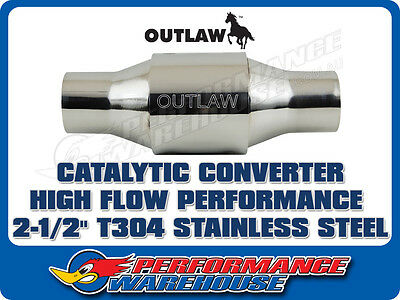 Outlaw Catalytic Converter High Flow Performance 2½ Inch  Stainless Steel Race