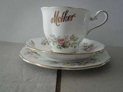 royal albert cup,saucer and plate trio