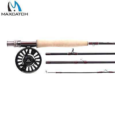 Mirage Fly Rod And Reel Combo Graphite Fly Fishing Rod And Black Aluminium Reel