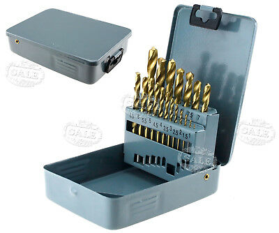 19pcs High Speed Steel Cobalt Coated Metric HSS Drill Bit  35244 Set New