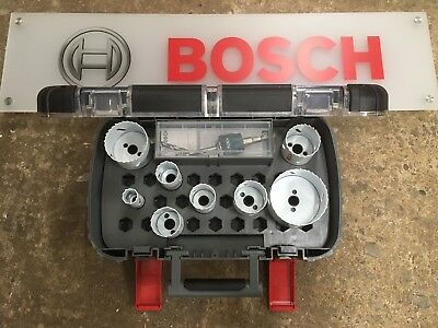 Bosch 14 Piece Progressor Holesaw Set 20mm - 76mm & HSS Pilot Drills EXCLUSIVE