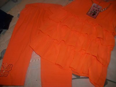 Girls top and short  leggings set  age 6 years new with tag