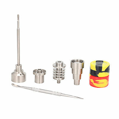 6 in 1 Titanium Nail Dab Dabber Tool With Carb Cap Fit 16 MM Heating + Container