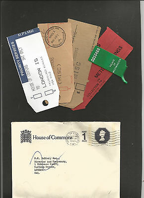 GB Postal Stationery   1986 House of Coimmons envelope and associated tags