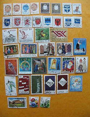 Lettland Latvia Briefmarken lot 40 different used stamps