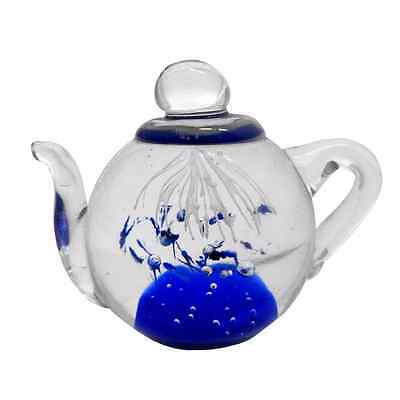 New Glass Teapot Mystical Underwater Blue Explosion Gift Boxed 9.5 x 6 x 7 cm