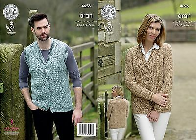 KINGCOLE 4626 LADIES ARAN KNITTING PATTERN  28 - 46IN -not the finished garments