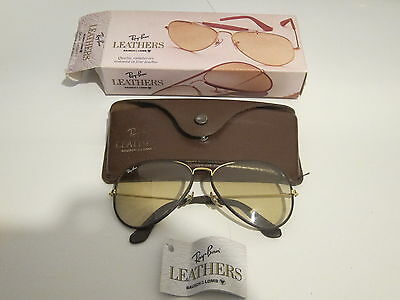 Ray-Ban Leathers Bausch & Lomb Aviator Sunglasses  ORGINAL LEATHER CASE,BOX 80s