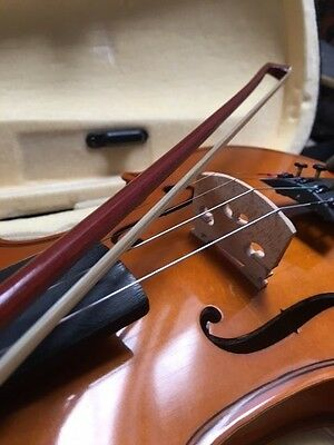 Used violin with bow, rosin and carry case