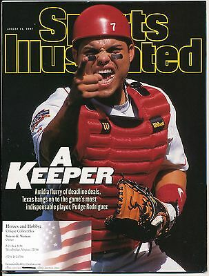 IVAN RODRIGUEZ Sports Illustrated baseball future Hall of Fame Rangers Marlins