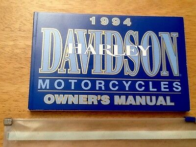 Harley-Davidson. Owners Manual.1994.plastic case.