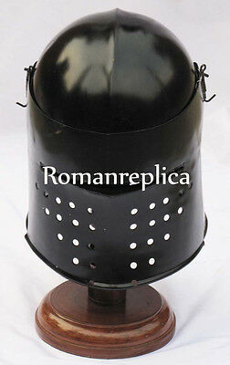 Medieval Black Knight Ancient Armour Helmet Collectible SugarLoaf Helmet