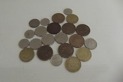 Small Collection Of Coins (Left Over Holiday Money) BELGIUM 1970's to 1990's