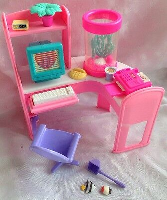 Barbie Magic Moves Interactive Home Office Set Vintage 1994