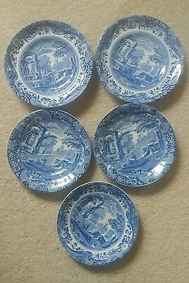 Copeland Spode Italian pattern saucers  x 5 different sizes