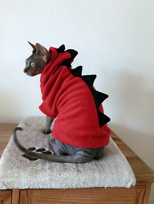 sizes DRAGON for a Sphynx cat - cat jumper top, warm clothes Katzenbekleidung
