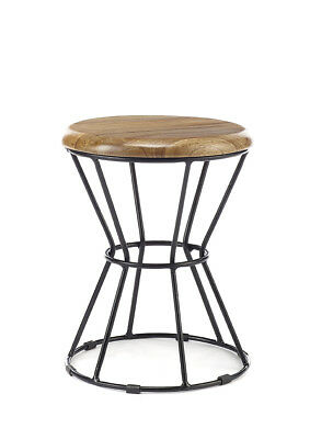 Industrial urban bar stool shabby vintage chic kitchen pub with wooden seat