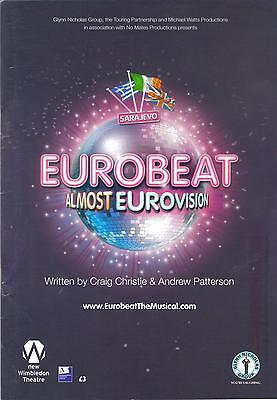 Eurobeat almost Eurovision Theatre Programme Wimbledon April 2007