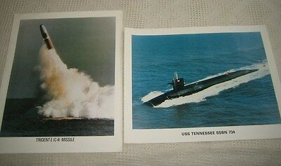 Trident Missile USS Tennessee SSBN 734 Submarine Two Navy Posters 20x16