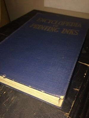 Encyclopedia Of Printing Lithographic inks And Accessories 1932 Book