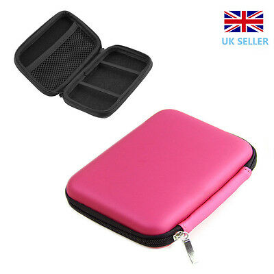 """2.5""""Inch USB External Hard Disk Drive Carry Case Pouch for HDD PC&Laptop Pink"""