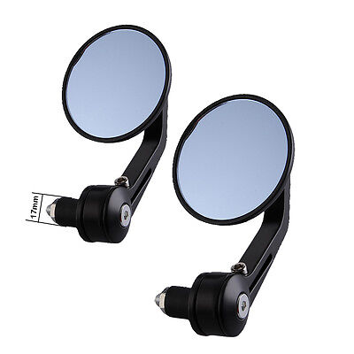 "Universal Motorcycle 7/8"" Custom Side Round Bar End Rear Mirrors Rearview Mirror"