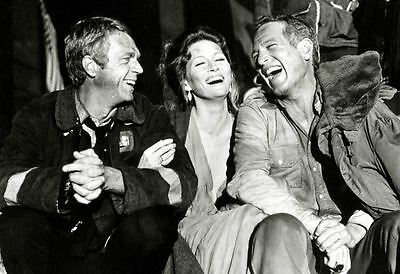 New 6X4 Print Behind The Scenes Towering Inferno Steve Mcqueen Paul Newman 1