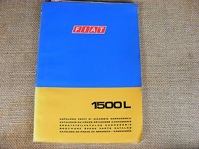 Fiat 1500 L Body Parts Parts Manual from Fiat . Printed in 5 languages