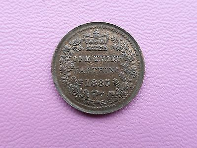 Victoria One Third Farthing coin 1885 A/unc