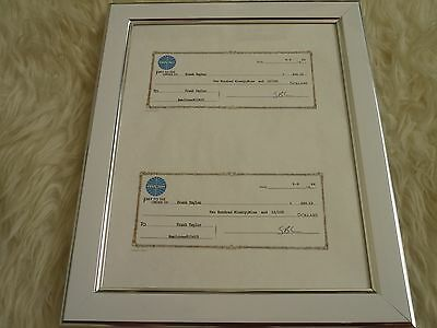 movie prop frank taylor catch me if you can cheques + pilot licence Framed