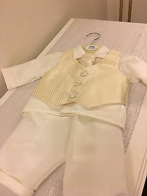 Boys Ivory Christening Outfit 0-3 Months *New with Tags*
