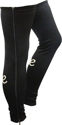 Outeredge Full Zip Fleece Lined Cycling Leg Warmers  Small Black
