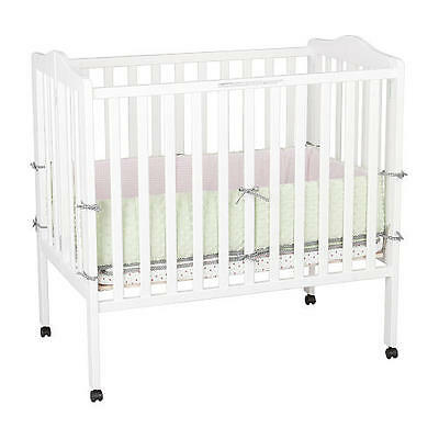 Delta Children 3-in-1 Portable Folding Crib - White