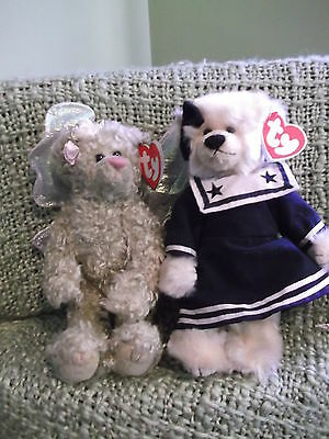 Ty  Attic Treasure Bears Collection BREEZY and  RAFEALLA - tags & labels