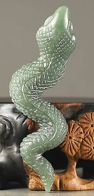 Old Chinese natural hetian jade hand-carved statue of snake pendant NO.X830