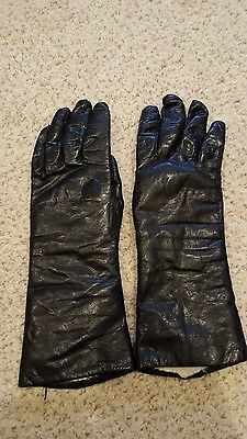 Vintage Leather and Fur-Lined Gloves