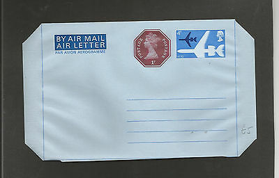 GB Postal Stationery  Airletter 4p Post Office uprated with 1p letterpress  mint
