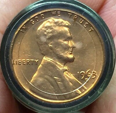 1 ROLL 1963 D BU Uncirculated Meghrig & Sons Roll Lincoln Cent Pennies Coins