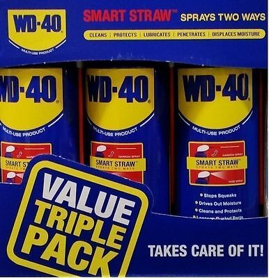 WD40 Smart Value Pack 3 x 400ml Cans with Smart Straw BNIB