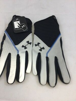 Under Armour Charge Reflective Running Gloves, L/XL, Black/Grey, (na)