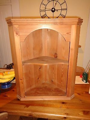 Solid Pine Corner Wall Display / Cabinet