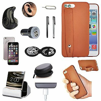 Hand Strap Case Cover Charger Bluetooth Headset Accessory Kit For iPhone 7 Plus