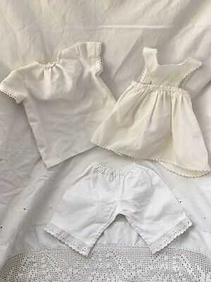 American Girl Doll KIRSTEN Birthday Apron Nightgown Bloomers