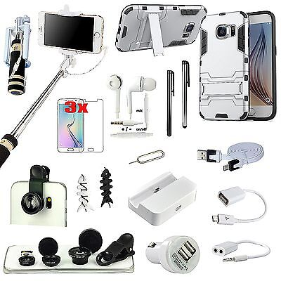 17 PCS Accessory Case Cover Charger Fish Eye Monopod For Samsung Galaxy Note 5